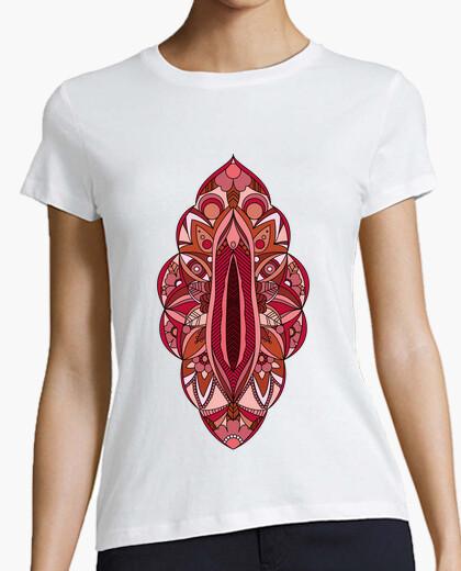 Tee-shirt vagin femme mandala, manches courtes