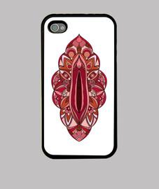 vagina mandala case iphone 4, black