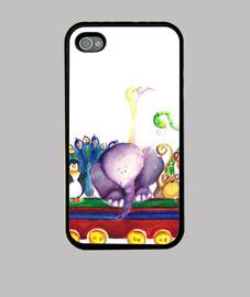 Vagón de animales funda iphone 4