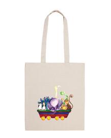 Vagón de animales Tote Bag L