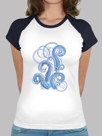 vagues abstraites bleues