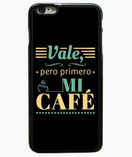 Funda iPhone 6 Plus / 6S Plus Vale, pero primero mi café 6 Plus negro