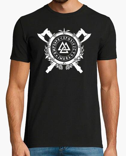 Tee-shirt Valknut - Bouclier et Armes (Vikings)