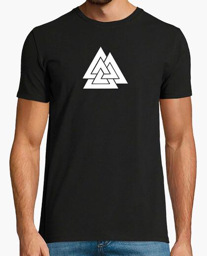 Camiseta VALKNUT Chico, manga corta, negra
