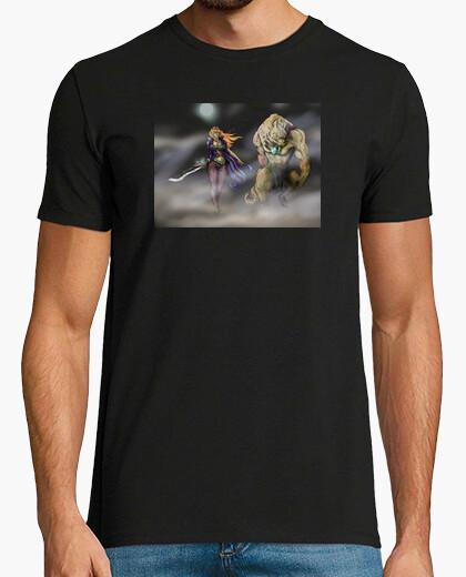 Camiseta vampira y lobo