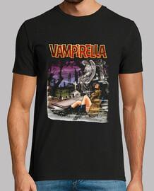 Vampirella cementerio fondo negro