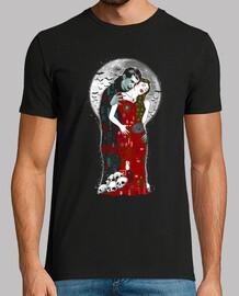 vampiros besan camisa para hombre