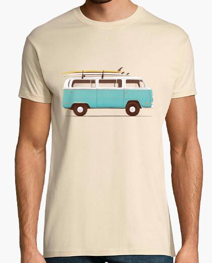 Tee-shirt van bleu