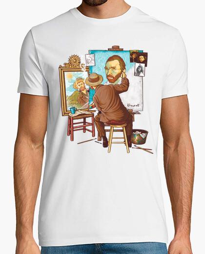 T-shirt van gogh tripla autoritratto