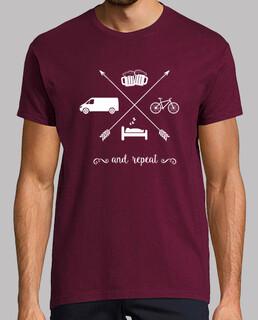 van, sleep, bike, beer and repeat