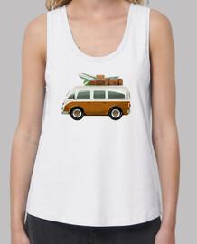 van surf - t-shirt ampia donna cinghie