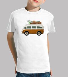 van surf - t-shirt del bambino / a