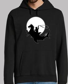vaquero tiburón rodeo constelación - silueta - fantasía - astronomía - cosmos - espacio