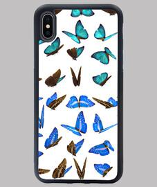 Varias mariposas azules