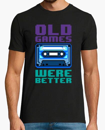 T-shirt vecchi games erano better (cassette)