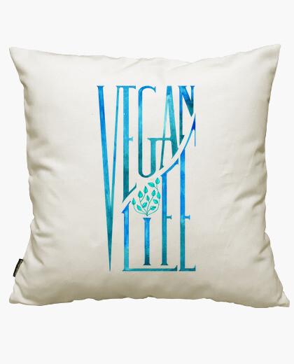 Housse de coussin vegan life (t-shirt)