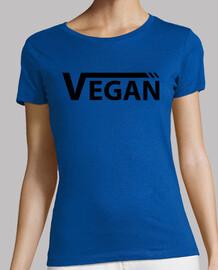 Vegan Negra Mujer, manga corta