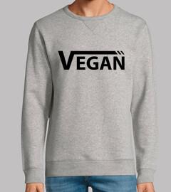 vegan nera uomo felpa