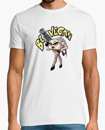 Vegan tofu, man t-shirt