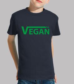 Vegan verde  Niño, manga corta