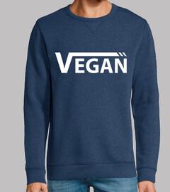 vegan white man, sweatshirt