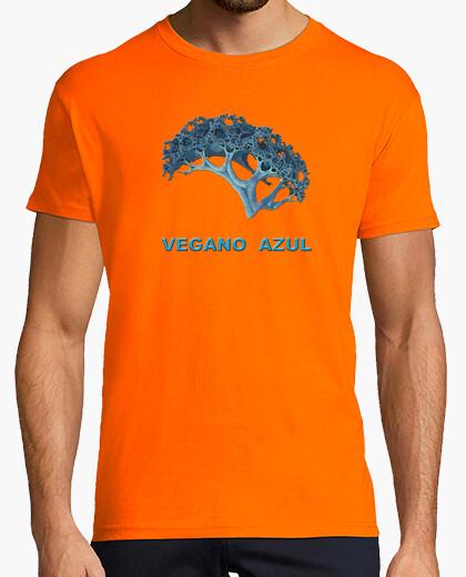 Camiseta Vegano azul