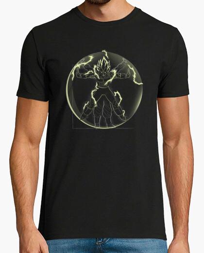 Tee-shirt vegeta saiyan vitruvian