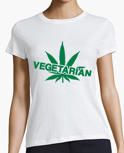 Tee-shirt végétarien cannabis mauvaises herbes