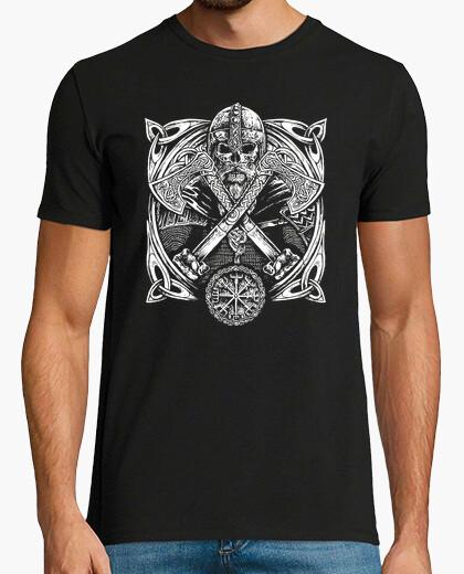 T-shirt Vegvísir - Teschio e Asce da...