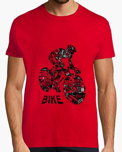 Tee-shirt vélo collage