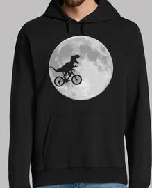 vélo de dinosaure et lune