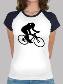 vélo, femme, fille