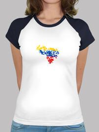 Venezuela - Camiseta estilo béisbol para chica