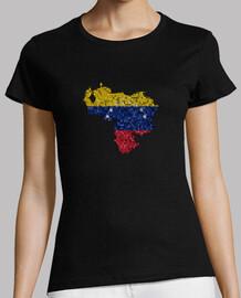 venezuela mapa tricolor bandera azulejos