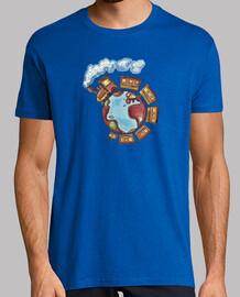 Ver oir y cantar Camiseta hombre amarilla
