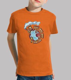 Ver oir y cantar Camiseta NIÑO naranja