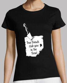 verdaderos amigos te apuñalan en la amistad frontal