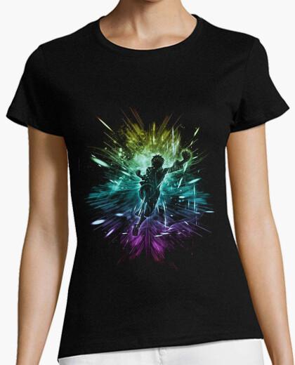 Tee-shirt version chapeau de paille tempête arc en ciel