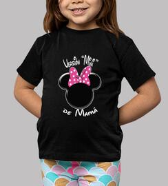 Versión Minnie de Mamá Letras Blancas
