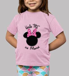 Versión Minnie de Mamá Letras Negras