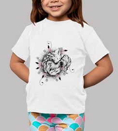 versión pequeño zorro de color rosa