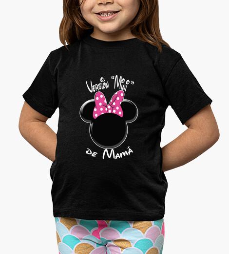 Abbigliamento bambino versione minnie di mamma lettere bianche