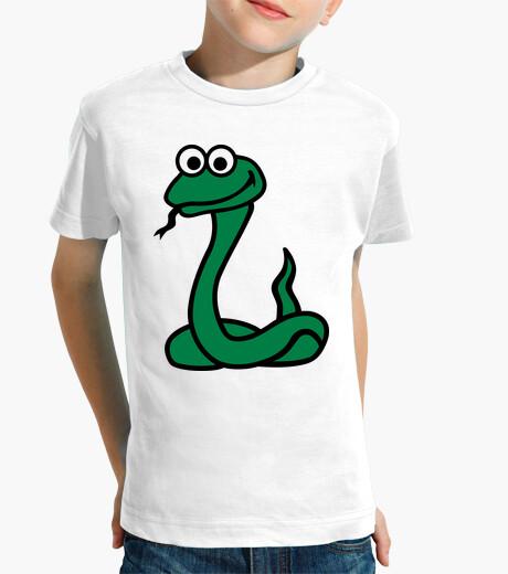 Vêtements enfant vert serpent comique
