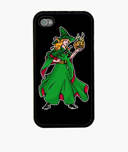 Coque iPhone vert sorcière wicca
