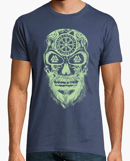 Tee-shirt vert vikings crâne
