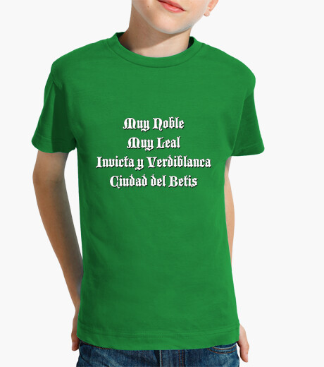 Very noble city of betis kids clothes