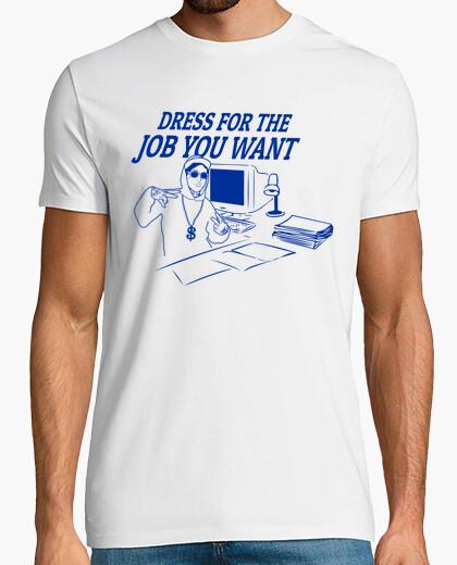 Camiseta vestirse para el trabajo