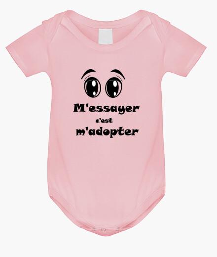Vêtements enfant Body Essayer adopter bébé yeux haut FB