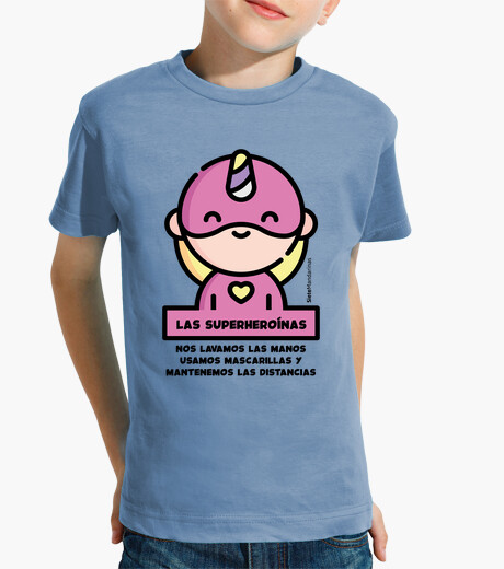 Vêtements enfant phrase de super-héroïne rose