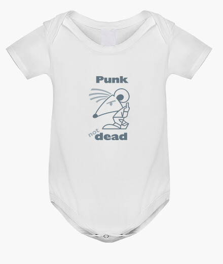Vêtements enfant Punk Not Dead Gris by Stef